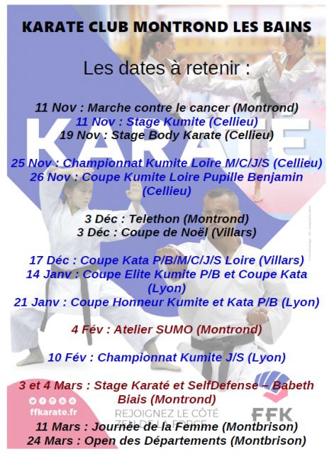 Dates phare club 2018